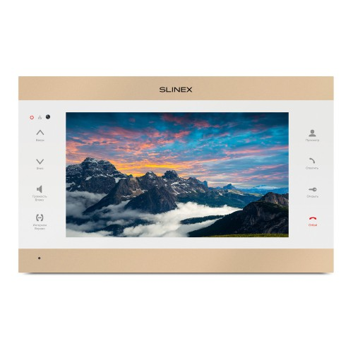 Видеодомофоны цветные IP-видеодомофон Slinex SL-10IPTHD (gold + white)