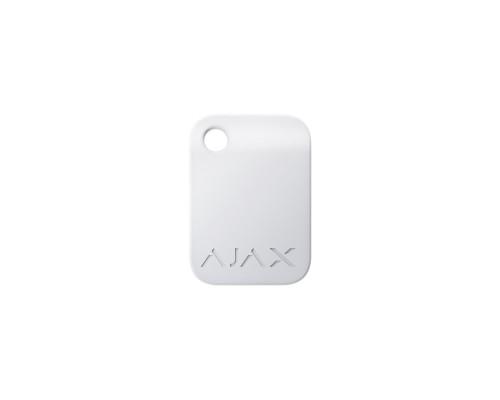 Брелок для управления охранной системой Ajax Tag белый 10 шт.