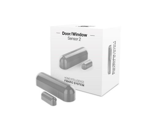 Датчик открытия двери/окна и температуры FIBARO Door/Window Sensor 2 Открытия окна/двери (gray) серый