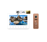Комплект видеодомофона NeoLight NeoKIT HD+ WiFi Bronze