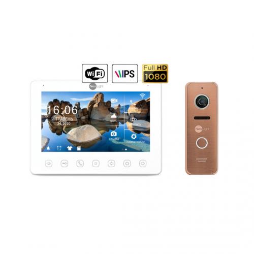 Комплект видеодомофонов Комплект видеодомофона NeoLight NeoKIT HD+ WiFi Bronze