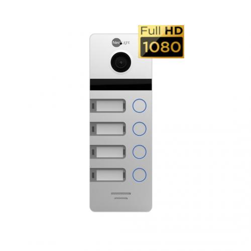 Вызывные панели цветные Вызывная панель NeoLight MEGA/4 FHD Silver