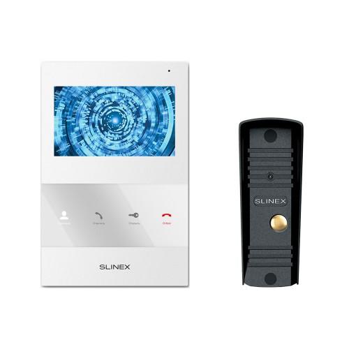 Комплект видеодомофонов Комплект видеодомофона Slinex SQ-04M White + Вызывная панель Slinex ML-16HR Black