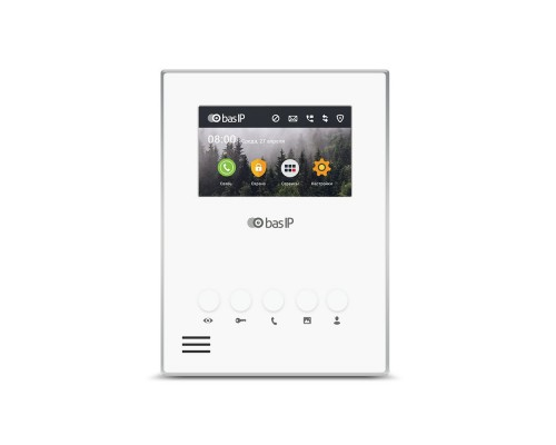 IP видеодомофон BAS-IP AU-04L WHITE