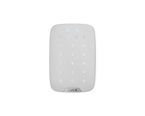 Беспроводная сенсорная клавиатура Ajax KeyPad Plus белая