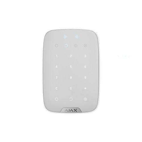 Клавиатура для сигнализации Беспроводная сенсорная клавиатура Ajax KeyPad Plus белая