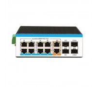 Управляемый индустр. 14-портовый гигабит POE коммутатор HongRui HR600-AXGM-SWG2082A4S