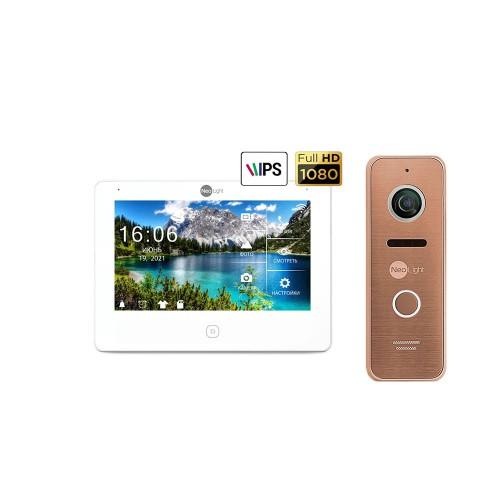 Комплект видеодомофонов Комплект видеодомофона Neolight NeoKIT HD Pro Bronze