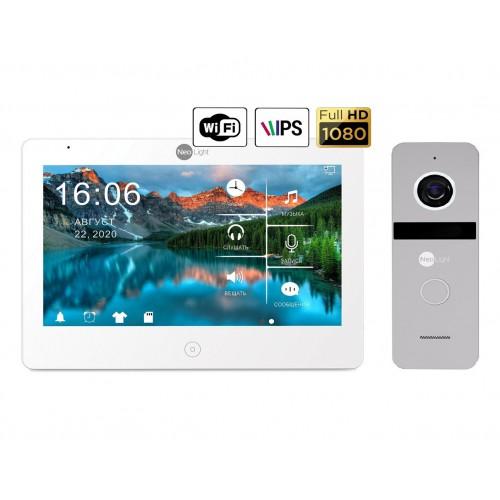 Комплект видеодомофонов Комплект видеодомофона NeoLight Mezzo HD WiFi  / Solo FHD Silver