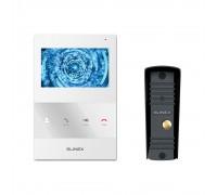 Комплект видеодомофона Slinex SQ-04M White + Вызывная панель Slinex ML-16HR Black