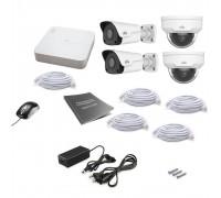 Комплект IP видеонаблюдения Uniview 4MIX 2MEGA