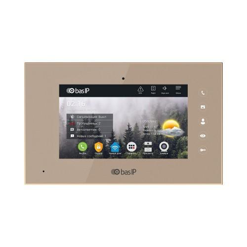 Видеодомофоны цветные IP видеодомофон BAS-IP AQ-07L Gold