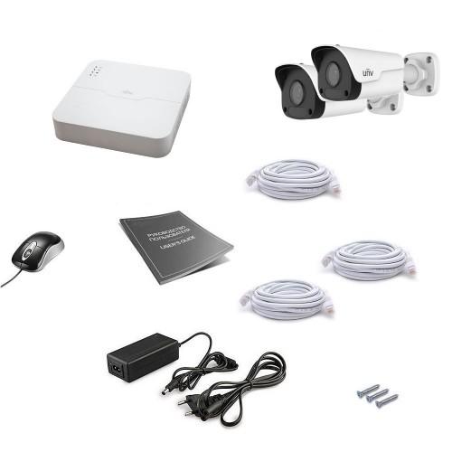 PoE-комплекты IP-видеонаблюдения Комплект IP видеонаблюдения Uniview 2OUT 2MEGA