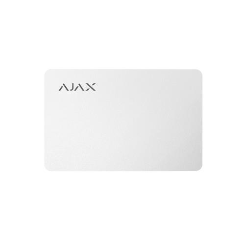 Брелоки Карта для управления охранной системой Ajax Pass белая 10 шт.
