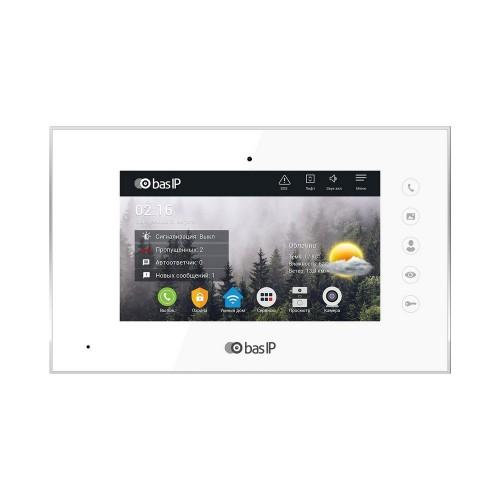 Видеодомофоны цветные IP видеодомофон BAS-IP AQ-07L White