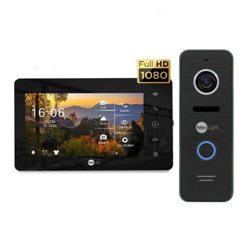 Комплект видеодомофонов Комплект видеодомофона Neolight NeoKIT HD+ Black/Black