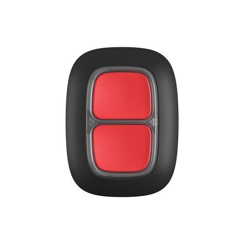 Кнопка тревожной сигнализации Беспроводная экстренная кнопка Ajax DoubleButton черная