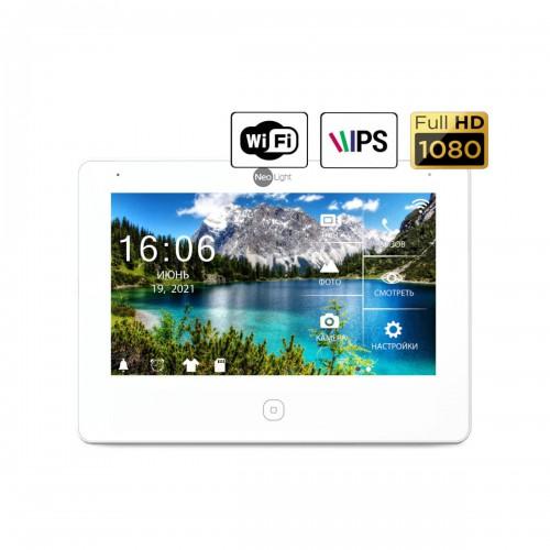 Видеодомофоны цветные Видеодомофон NeoLight Alpha HD WF White