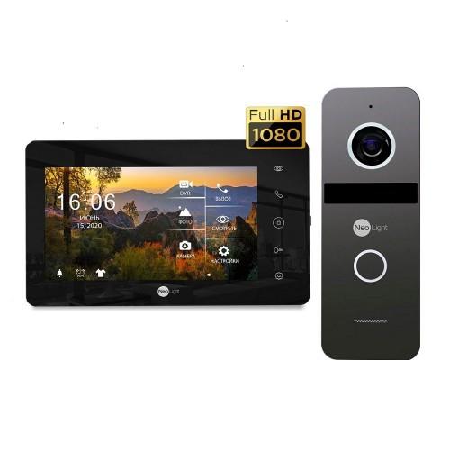 Комплект видеодомофонов Комплект видеодомофона Neolight NeoKIT HD+ Black/Graphite