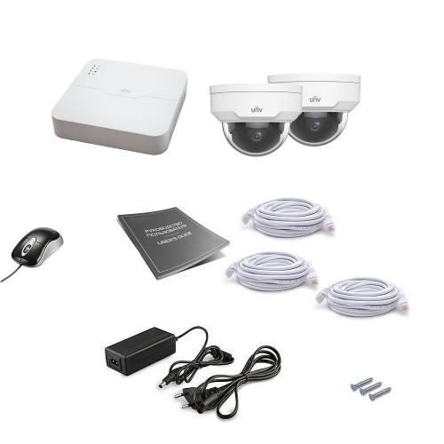 PoE-комплекты IP-видеонаблюдения Комплект IP видеонаблюдения Uniview 2DOME 4MEGA