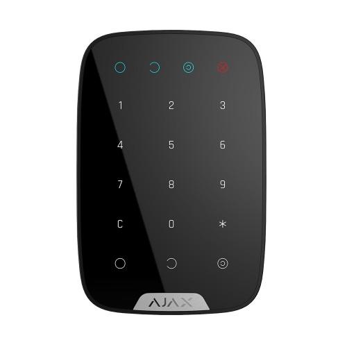 Клавиатура для сигнализации Беспроводная сенсорная клавиатура Ajax KeyPad черная