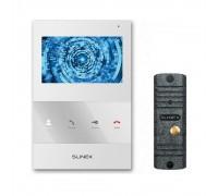Комплект видеодомофона Slinex SQ-04 White + вызывная панель ML-16НR Grey Antiq