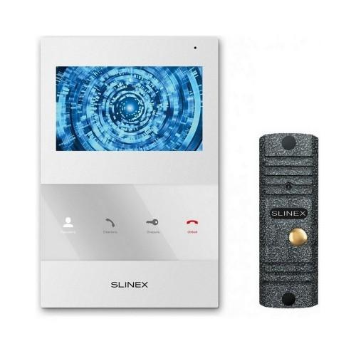 Комплект видеодомофонов Комплект видеодомофона Slinex SQ-04 White + вызывная панель ML-16НR Grey Antiq