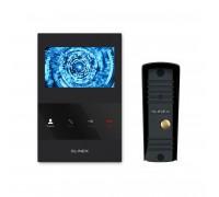 Комплект видеодомофона Slinex SQ-04M Black + Вызывная панель Slinex ML-16HR Black