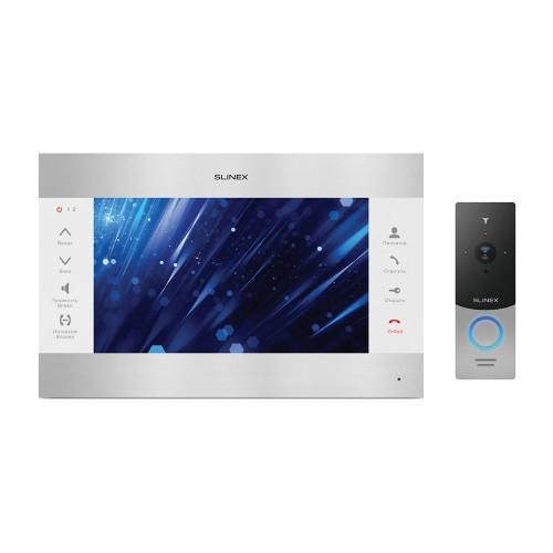 Комплект видеодомофонов Комплект видеодомофона Slinex SL-10M Silver White + Вызывная панель Slinex ML-20HD Silver Black