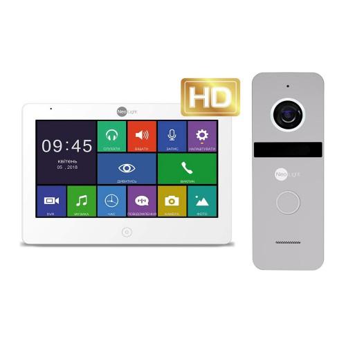 Комплект видеодомофонов Комплект видеодомофона Neolight MEZZO HD / Solo FHD Silver