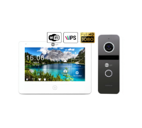 Комплект видеодомофона NeoLight NeoKIT HD Pro WiFi Graphite