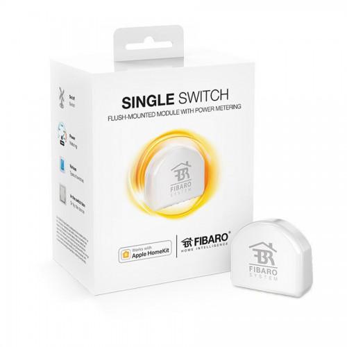 Системы безопасности Релейный выключатель со счетчиком электроэнергии FIBARO Single Switch для Apple HomeKit - FGBHS-213