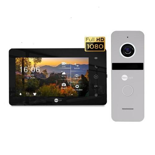 Комплект видеодомофонов Комплект видеодомофона Neolight NeoKIT HD+ Black/Silver
