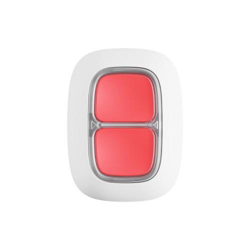 Кнопка тревожной сигнализации Беспроводная экстренная кнопка Ajax DoubleButton белая