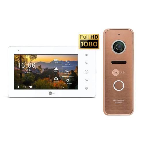 Комплект видеодомофонов Комплект видеодомофона Neolight NeoKIT HD+ Bronze