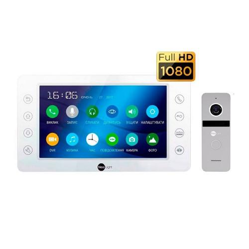 Комплект видеодомофонов Комплект видеодомофона NeoLight KAPPA HD Kit Silver