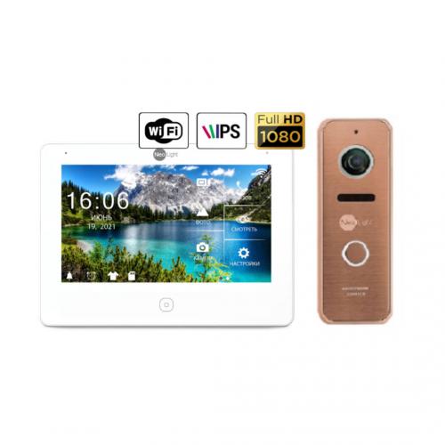 Комплект видеодомофонов Комплект видеодомофона Neolight NeoKIT HD Pro WiFi Bronze