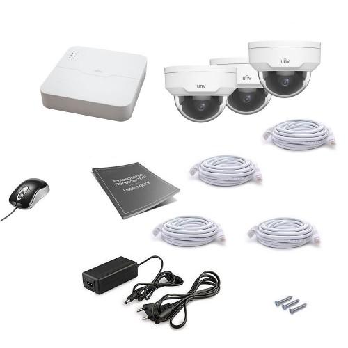 PoE-комплекты IP-видеонаблюдения Комплект IP видеонаблюдения Uniview 3DOME 4MEGA