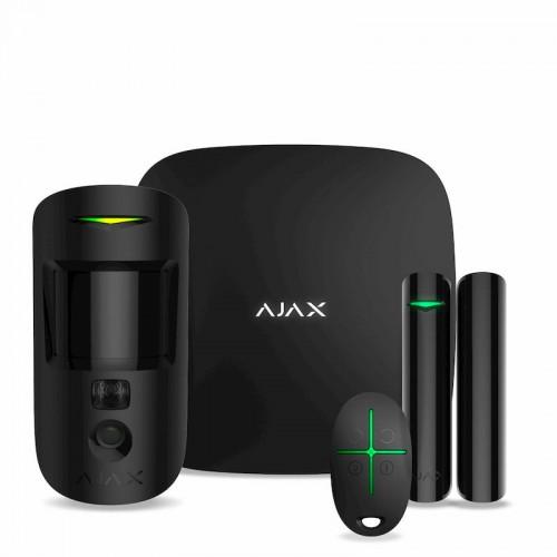 Беспроводные GSM сигнализации Комплект охранной сигнализации Ajax StarterKit Cam Plus Black