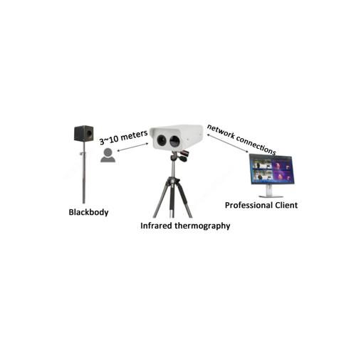 Видеонаблюдение для специальных задач Автоматическая система измерения и контроля температуры Uniview TIC600
