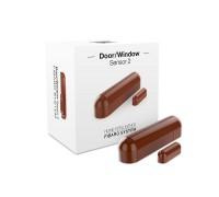 Датчик открытия двери/окна и температуры FIBARO Door/Window Sensor 2 Открытия окна/двери Температура (brown) коричневый
