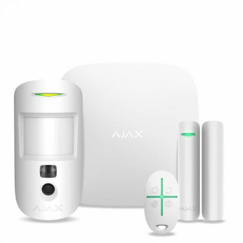 Беспроводные GSM сигнализации Комплект охранной сигнализации Ajax StarterKit Cam Plus White
