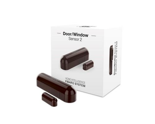 Датчик открытия двери/окна и температуры FIBARO Door/Window Sensor 2 Открытия окна/двери Температура (dark brown) темно-коричневый