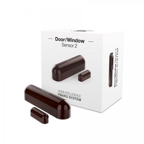 Датчики Датчик открытия двери/окна и температуры FIBARO Door/Window Sensor 2 Открытия окна/двери Температура (dark brown) темно-коричневый