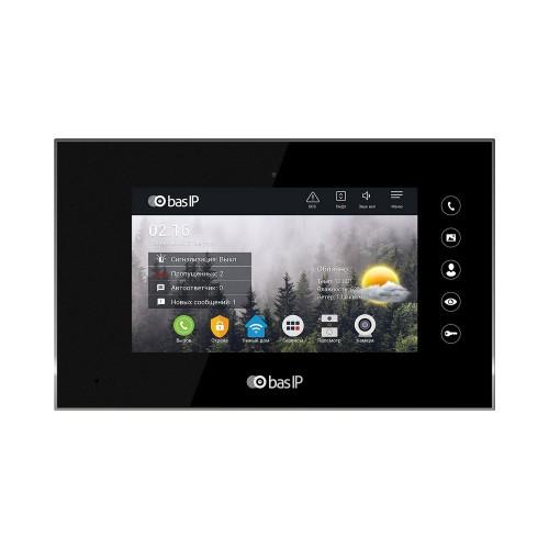 Видеодомофоны цветные IP видеодомофон Bas-IP AQ-07L Black
