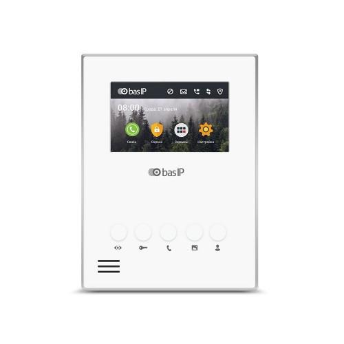 Видеодомофоны цветные IP видеодомофон BAS-IP AU-04L WHITE