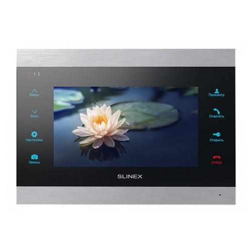 Видеодомофоны цветные Видеодомофон Slinex SL-07IPHD (silver + black)