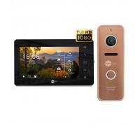 Комплект видеодомофона Neolight NeoKIT HD+ Black/Bronze