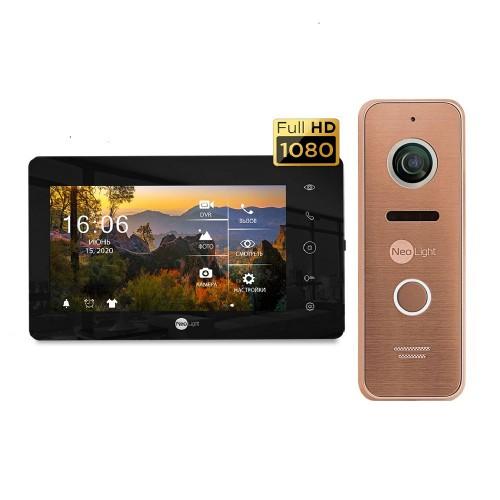 Комплект видеодомофонов Комплект видеодомофона Neolight NeoKIT HD+ Black/Bronze